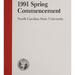 North Carolina State University 1991 Spring Commencement, May 11, 1991