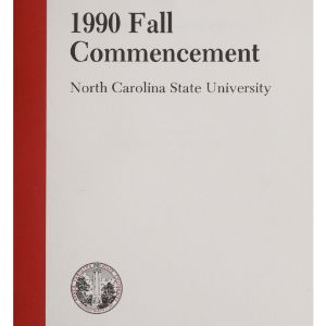 North Carolina State University 1990 Fall Commencement, December 19, 1990