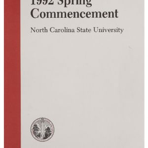 North Carolina State University 1992 Spring Commencement, May 9, 1992