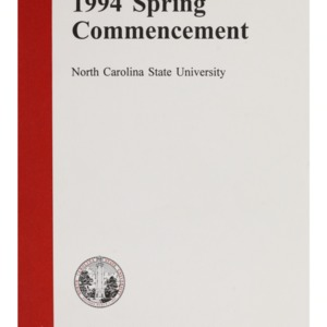 North Carolina State University 1994 Spring Commencement, May 14, 1994