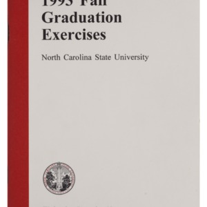 North Carolina State University 1993 Fall Graduation Exercises, December 22, 1993