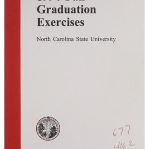 North Carolina State University 1994 Fall Graduation Exercises, December 21, 1994
