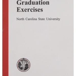 North Carolina State University 1995 Fall Graduation Exercises, December 20, 1995