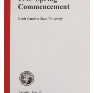 North Carolina State University 1995 Spring Commencement, May 13, 1995