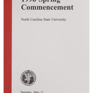 North Carolina State University 1996 Spring Commencement, May 11, 1996