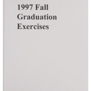 North Carolina State University 1997 Fall Graduation Exercises, December 17, 1997