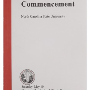 North Carolina State University 1997 Spring Commencement, May 10, 1997