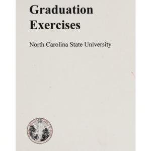 North Carolina State University 1998 Fall Graduation Exercises, December 16, 1998