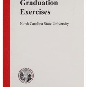 North Carolina State University 1999 Fall Graduation Exercises, December 15, 1999