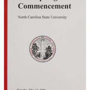 North Carolina State University 2005 Spring Commencement, May 14, 2005