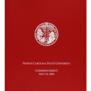 North Carolina State University Commencement, May 10, 2008