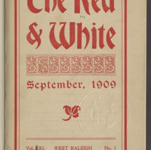 Red and White, Vol. 11 No. 1, September 1909