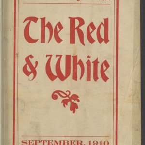 Red and White, Vol. 12 No. 1, September 1910