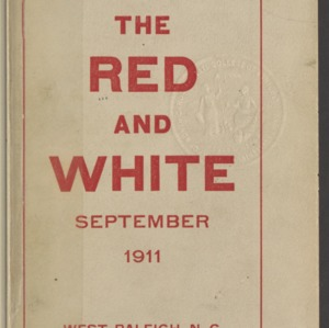 Red and White, Vol. 13 No. 1, September 1911