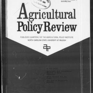 Agricultural Policy Review Vol 6. No 2.