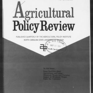 Agricultural Policy Review Vol 6. No 3.