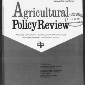 Agricultural Policy Review Vol 7. No 1.
