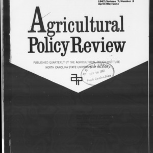 Agricultural Policy Review Vol 7. No 2.