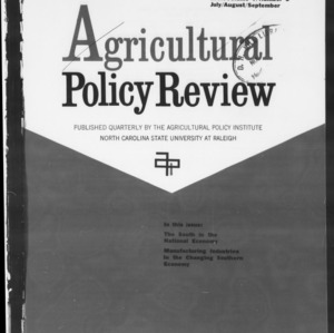 Agricultural Policy Review Vol 7. No 3.