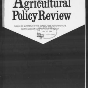 Agricultural Policy Review Vol 7. No 4.