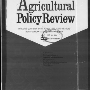 Agricultural Policy Review Vol 8. No 2.