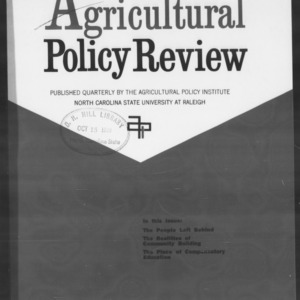 Agricultural Policy Review Vol 8. No 3.