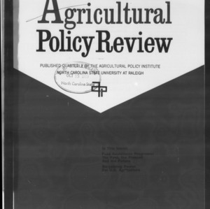 Agricultural Policy Review Vol 8. No 4.