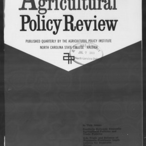 Agricultural Policy Review Vol 9. No 2.
