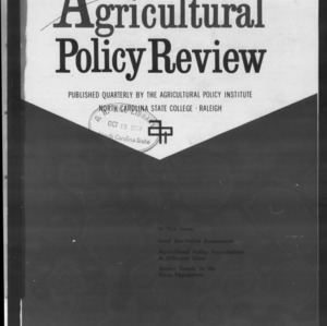 Agricultural Policy Review Vol 9. No 3.