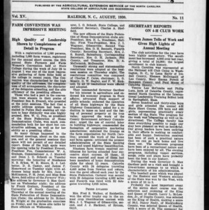 Extension Farm-News Vol. 15 No. 11, August 1930