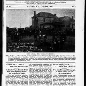 Extension Farm-News Vol. 15 No. 4, January 1930