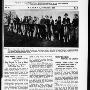 Extension Farm-News Vol. 15 No. 5, February 1930