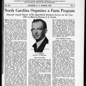 Extension Farm-News Vol. 15 No. 6, March 1930