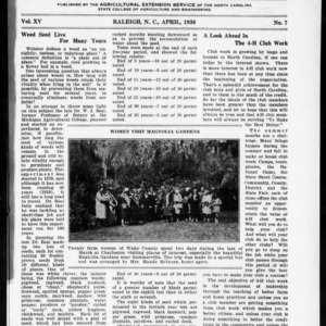 Extension Farm-News Vol. 15 No. 7, April 1930