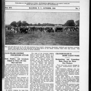 Extension Farm-News Vol. 16 No. 1, October 1930