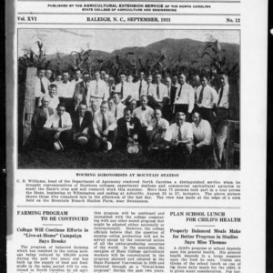 Extension Farm-News Vol. 16 No. 12, September 1931