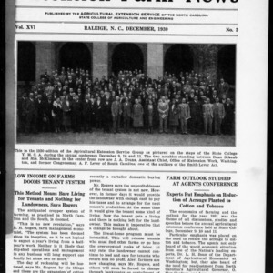 Extension Farm-News Vol. 16 No. 3, December 1930