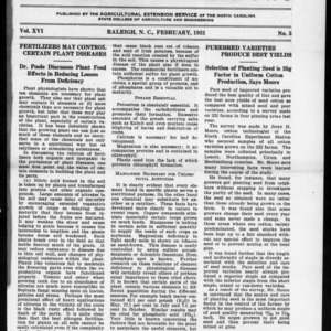 Extension Farm-News Vol. 16 No. 5, February 1931