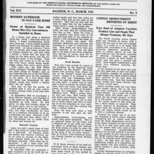 Extension Farm-News Vol. 16 No. 6, March 1931