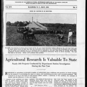 Extension Farm-News Vol. 16 No. 8, May 1931