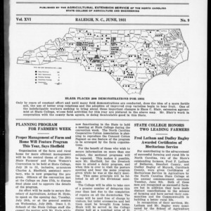 Extension Farm-News Vol. 16 No. 9, June 1931