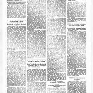 Extension Farm-News Vol. 1 No. 12, May 1, 1915