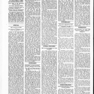 Extension Farm-News Vol. 1 No. 15, May 22, 1915