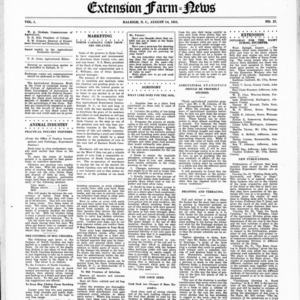 Extension Farm-News Vol. 1 No. 27, August 14, 1915