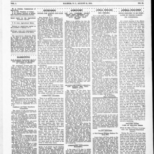 Extension Farm-News Vol. 1 No. 28, August 21, 1915