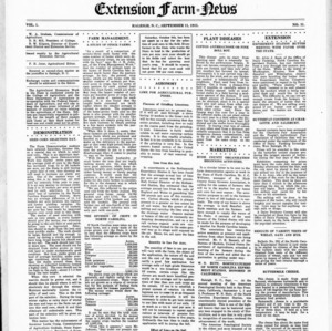 Extension Farm-News Vol. 1 No. 31, September 11, 1915