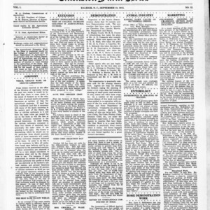 Extension Farm-News Vol. 1 No. 32, September 18, 1915
