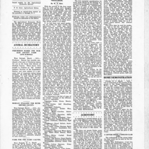 Extension Farm-News Vol. 1 No. 4, March 6, 1915