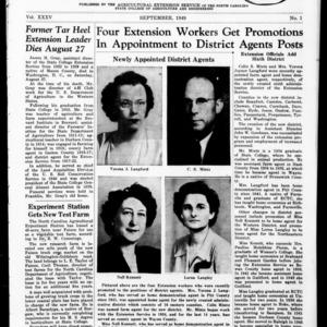 Extension Farm-News Vol. 35 No. 1, September 1949