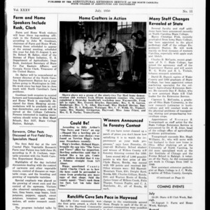 Extension Farm-News Vol. 35 No. 11, July 1950